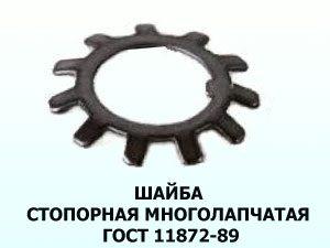 Шайба стопорная ГОСТ 11872-89 33мм